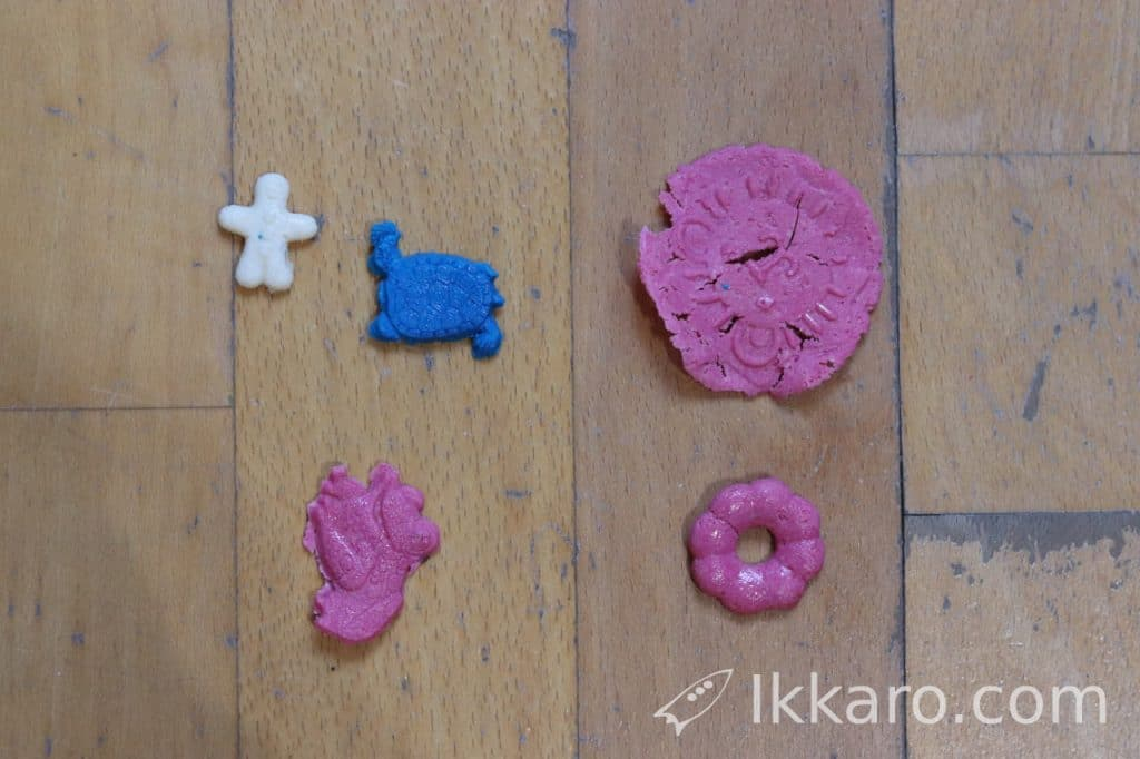 figuras hechas con Galalith o plástico de leche