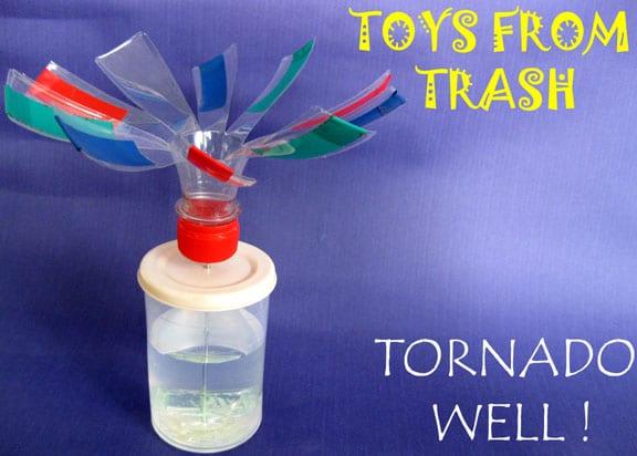 como hacer un tornado casero para niños