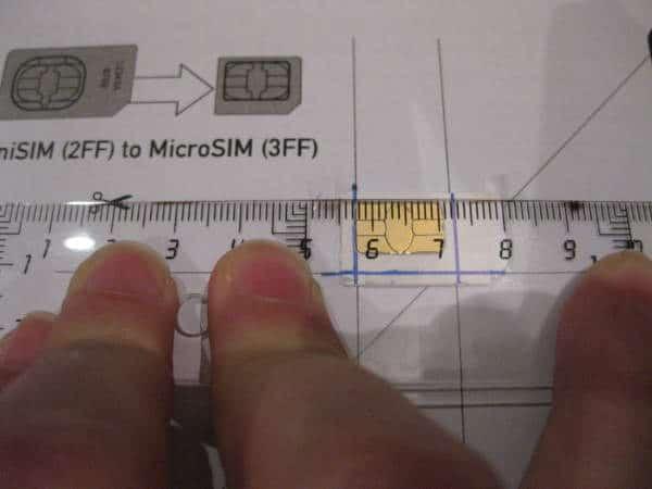 Como marcar una tarjeta SIM para obetener una micro SIM