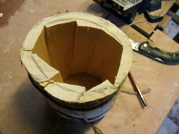 Afinando forma y corte de la jarra