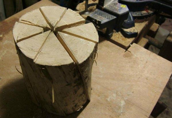 Cortar siguiendo la veta de madera