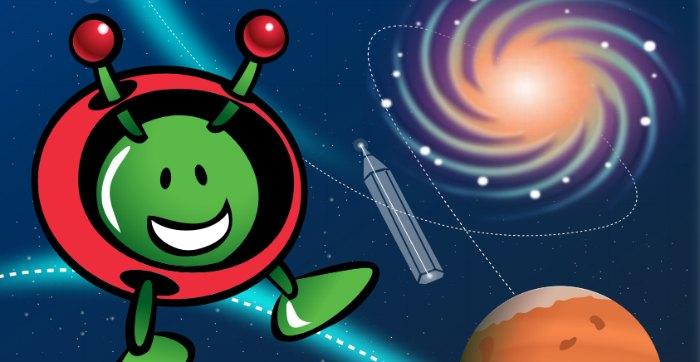 Libro interactivo para aprender  y conocer el universo para niños editado por la ESA