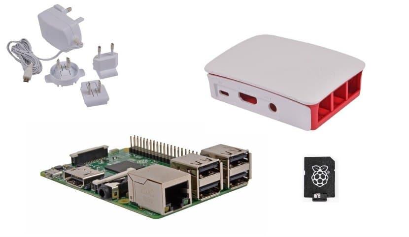 Kit de inicio de sobremersa para principiantes sen la raspberry pi3