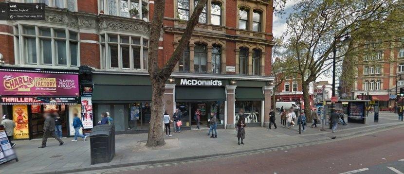 Local actual del 84 de Charing Cross Road donde esta ba la librería de Marks & CO