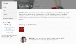 He acabado el curso de Machine Learning de Coursera
