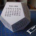 Calendarios dodecaedricos para el 2018
