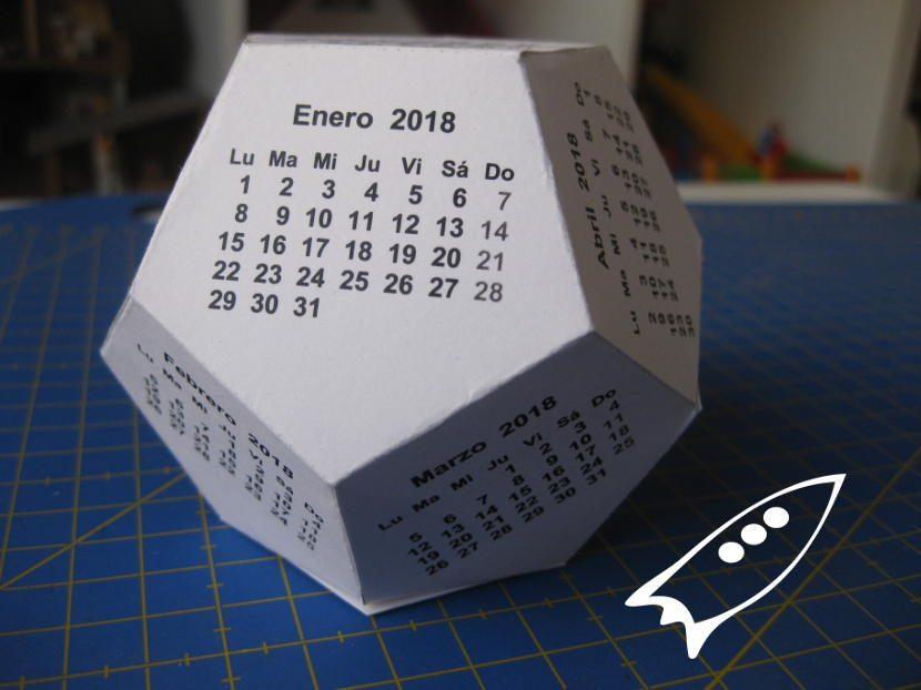 Calendario dodecaedrico 2018
