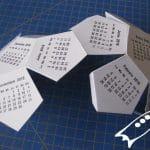 Como dobalr el dodecaedro de la plantilla