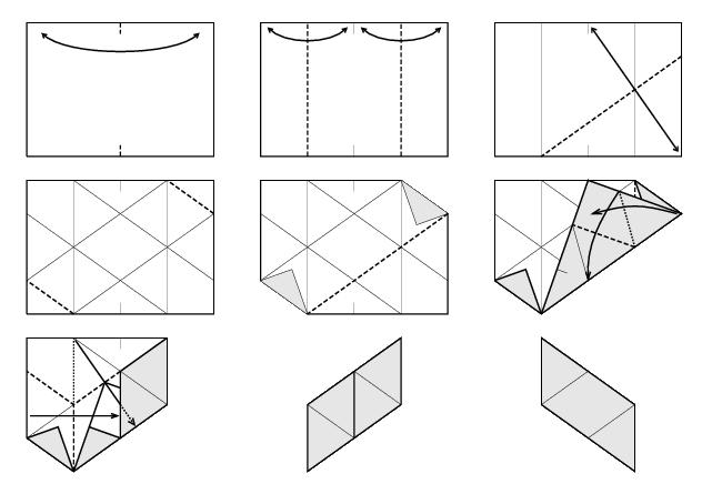 como doblar los meses de cada módulo del dodecaedro