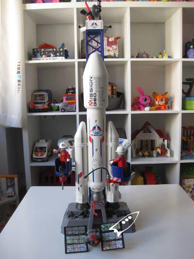 Cohete especial playmobil con cuenta atrás