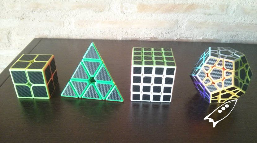 Kit de cubos rubik 2x2, priamidal, 4x4 y dodecaedro
