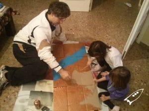 Egito y el desierto en cartón. Actividad para niños