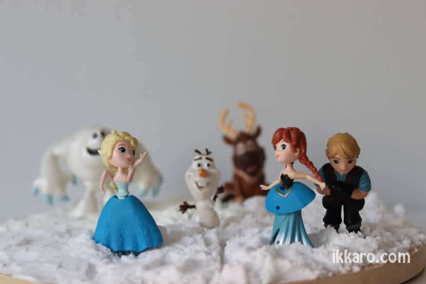 Decoración Frozen en nieve artificial