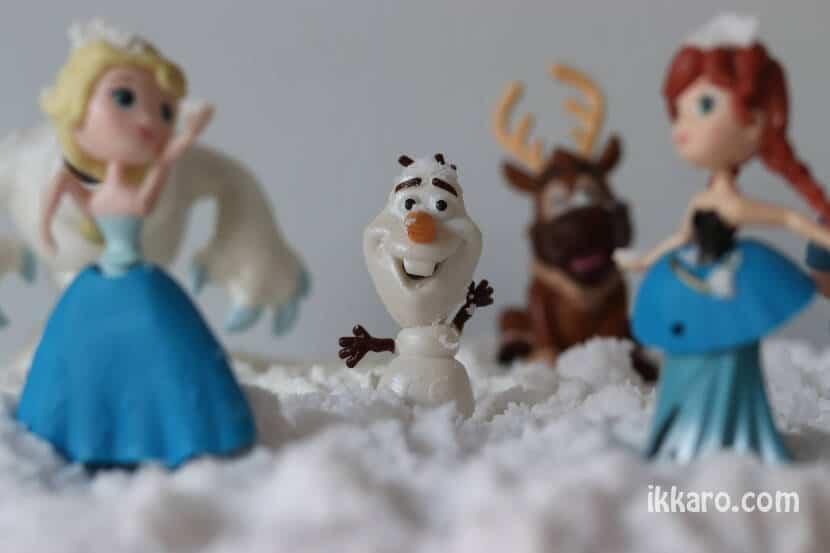 Olaf, con su nieve calentita nieve de bicarbonato