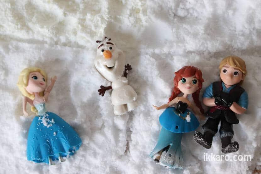 tipos de nieve artificial, y los amigos de frozen
