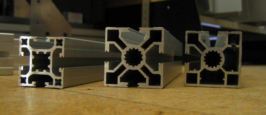 perfiles de aluminio obtenidos por extrusión