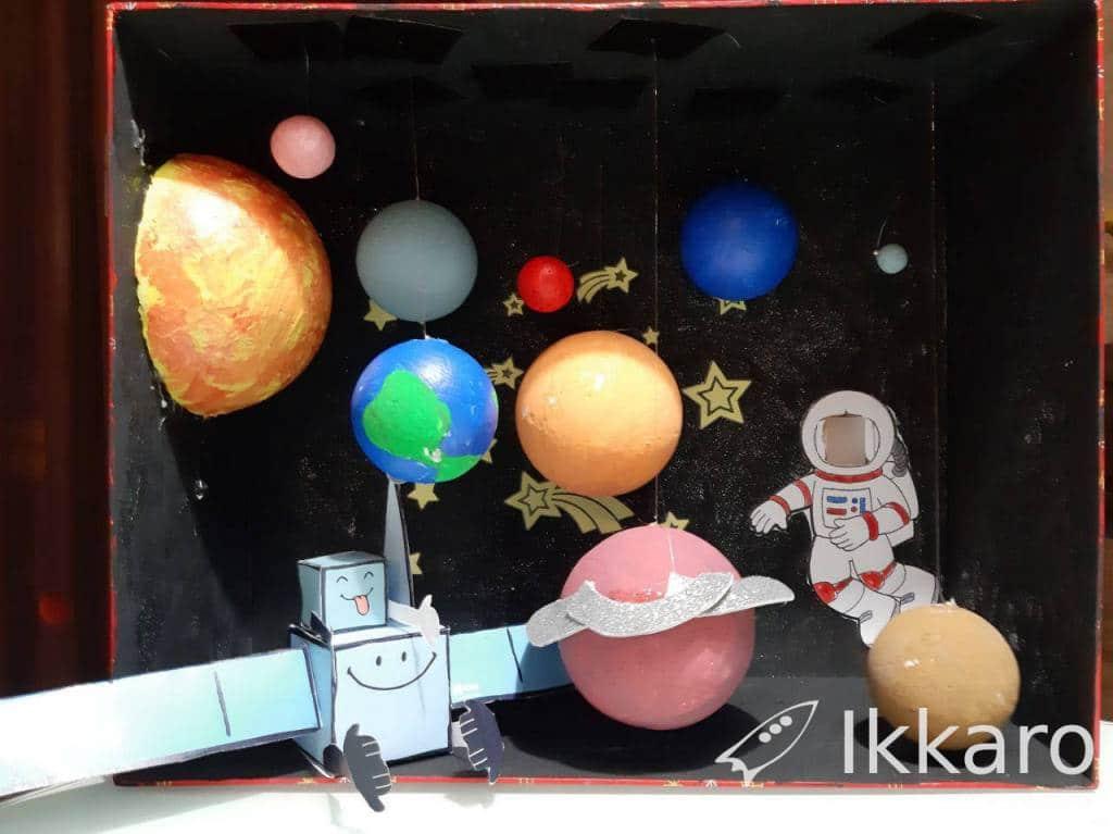 proyecto maqueta sistema solar , astronautas y universo para el colegio