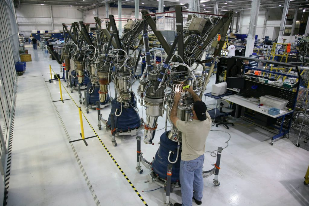 Cadena de montaje de calidad en la industria