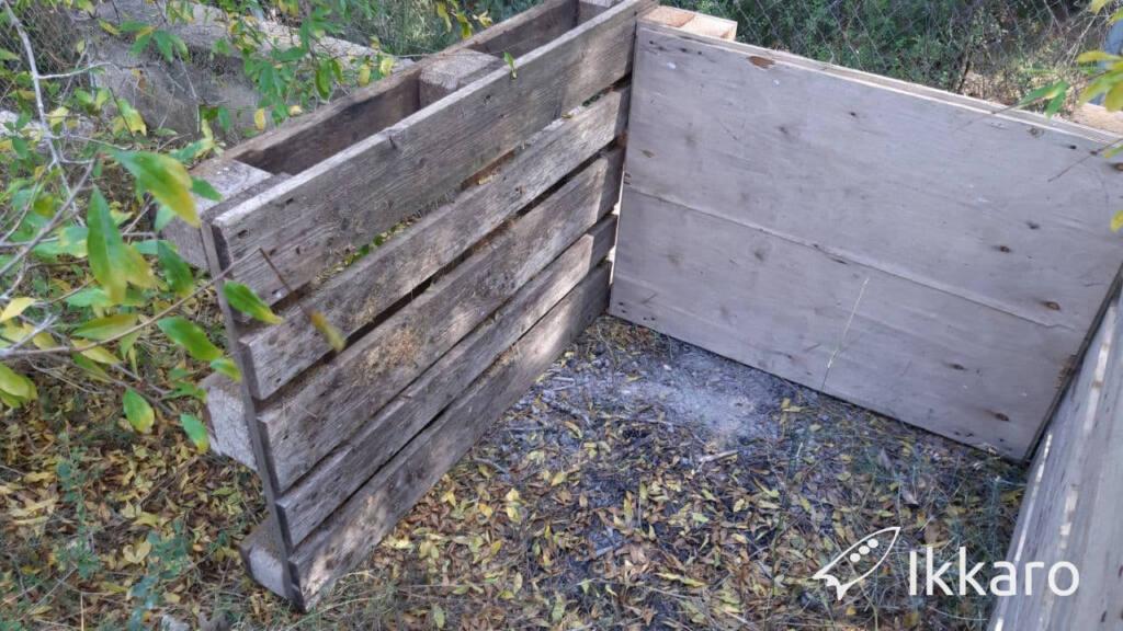 compostador sin base para compostar sobre tierra