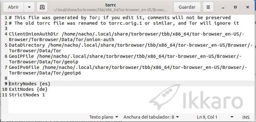 como editar torrc