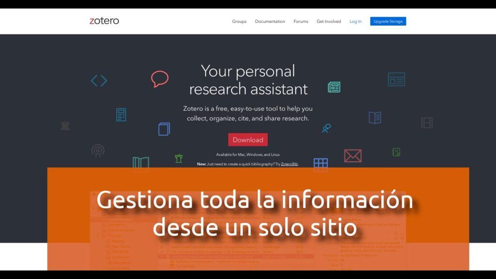 Zotero, asistente de investigación personal