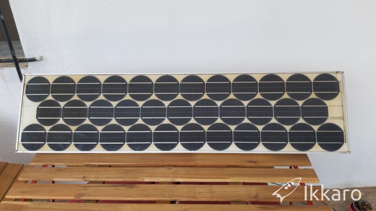 reutilizar placa solar antigua