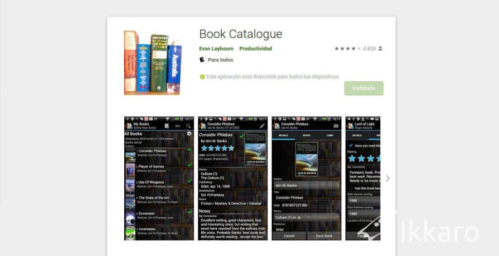 Catalogar biblioteca personal de libros